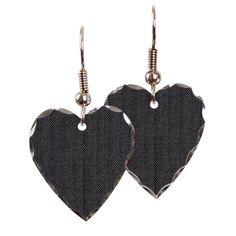 Dark Herringbone pattern Earrings #herringbone #pattern