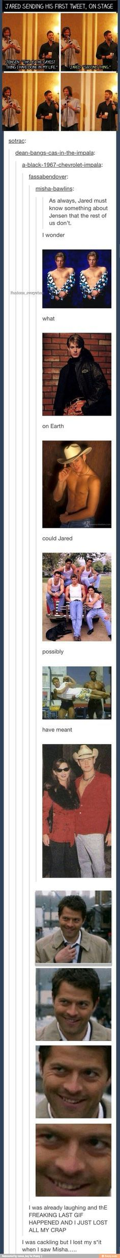 Funny as hell, then MISHA! OMGs, I hurt myself laughing at that last image. Too much!