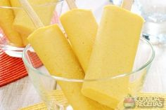 Foto: Bonduelle Ice Cream Smoothie, Sorbet Ice Cream, Cooking Ice Cream, Sorbets, Frozen Desserts, Perfect Food, Frozen Yogurt, International Recipes, Love Food