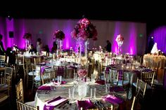 loving the hanging white fabric on the wall, with purple LED lights on it to change its color!