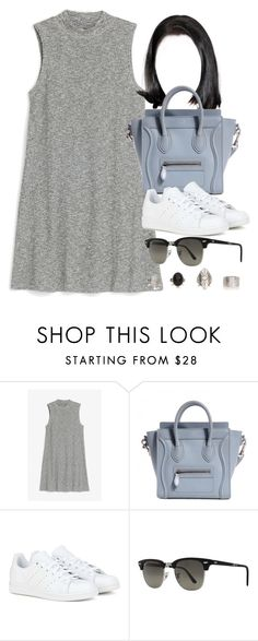 """Style  #10545"" by vany-alvarado ❤ liked on Polyvore featuring Monki, adidas and Ray-Ban"