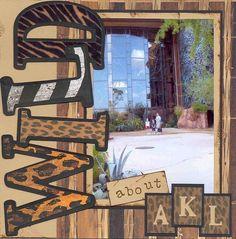 Wild about AKL (Animal Kingdom Lodge) by Denise Julius – Robyn Mantas – pet resort Disney Scrapbook Pages, Scrapbook Page Layouts, Baby Scrapbook, Travel Scrapbook, Scrapbook Paper Crafts, Scrapbook Supplies, Scrapbook Cards, Style Scrapbook, Scrapbooking Ideas