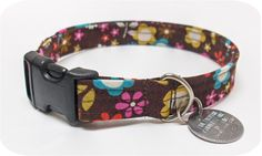 DIY Dog Collar: * Recycle ring & connector from old collar