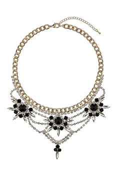 Premium Crystal Rhinestone Collar - Necklaces - Jewelry - Bags & Accessories - Topshop USA #jewelry #necklace