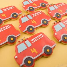 Fire engine cookies :)