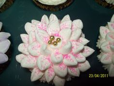 cup cake flower..made with mini marsmellows
