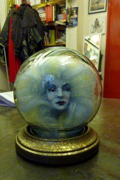 Miniature Madame Leota head by Will Bezek, the office, Clerkenwell, London, UK