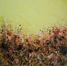 "Saatchi Online Artist Lisa Carney; Painting, ""Yellow Valley - GeoFlora Series"" #art"