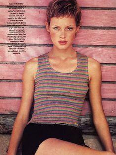 """Short Stories"": Amber Valletta photographed by Robert Erdmann for Mademoiselle, June 1993"