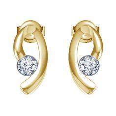 Beautiful Solitaire Stud Earrings