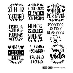 Brush Lettering, Lettering Design, Logo Design, Spanish Inspirational Quotes, Spanish Quotes, Cute Boyfriend Gifts, Famous Phrases, Custom Starbucks Cup, Everyday Quotes