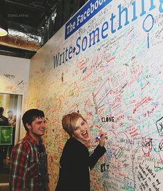 ♥ somehow I want to write on that same wall that Josh Hutcherson and Jennifer…