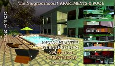 apartments neighborhood & Pool Copy Modify Only 156 impact