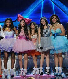 Fifth Harmony-Normani Kordei Hamilton, Karla Camila Cabello, Allyson Brooke Hernandez, Lauren Michelle Jauregui and Dinah Jane Hansen on the X Factor USA 2012