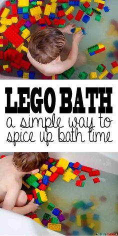 Lego Bath: a simple way to spice up bath time.
