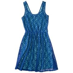 Mossimo Supply Co. Juniors Lace Overlay Fit and Flare Dress - Assorted Colors  - $25