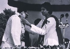 With close friend Rajiv Gandhi at a election rally in UP