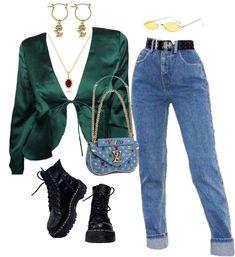 Teen Fashion Outfits, Mode Outfits, Retro Outfits, Ootd Fashion, Stylish Outfits, Vintage Outfits, Girl Outfits, Fashion Clothes, Fashion Fashion