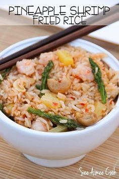 Pineapple Shrimp Fried Rice | See Aimee Cook