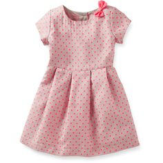 Jacquard Polka Dot Dress Carter's (61 BRL) ❤ liked on Polyvore featuring baby, baby clothes, dresses, kids and vestidos