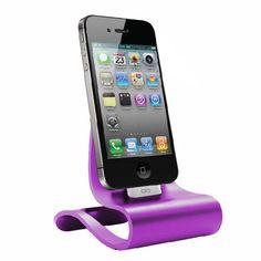 Purple Smart Dock For iPhone 4/4S, iPad, And iPod.