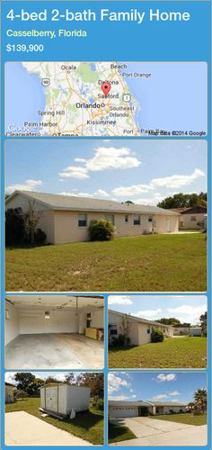 4-bed 2-bath Family Home in Casselberry, Florida ►$139,900 #PropertyForSaleFlorida http://florida-magic.com/properties/64489-family-home-for-sale-in-casselberry-florida-with-4-bedroom-2-bathroom