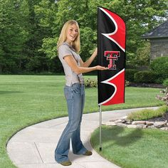 Swooper Flag with Pole - Texas Tech Red Raiders