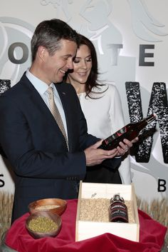 Crown Prince Frederik and Crown Princess Mary of Denmark visit the distilery of the Holsten brewery on May 20, 2015 in Hamburg, Germany.