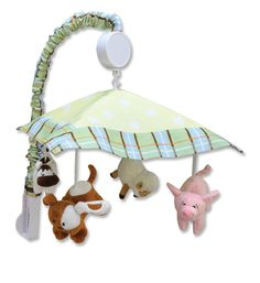 This is the Trend Lab Baby Barnyard Musical Mobile. So cute! #baby #nursery