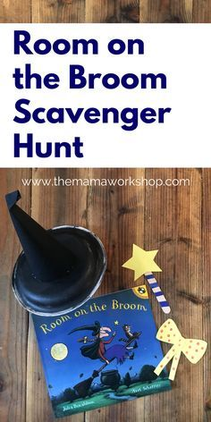 This Room on the Broom Scavenger Hunt is so fun! We had fun making the crafts and hiding them around the house to find. It is perfect for the book!