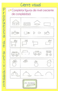 Visual Motor Activities, Visual Perceptual Activities, Preschool Activities, Perception, Teaching Tools, Teaching Resources, Primary Maths, Pre Writing, Math For Kids
