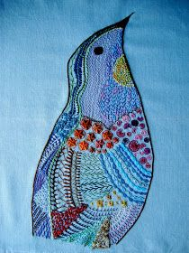 Embroidery inspiration for a bird