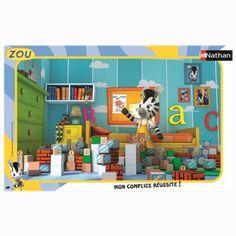 Puzzle cadre 15 pièces : Dans la chambre de Zou - Nathan-Ravensburger-86111