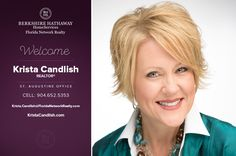 BERKSHIRE HATHAWAY HOMESERVICES FLORIDA NETWORKREALTY WELCOMES KRISTA CANDLISH