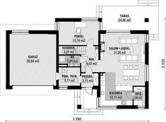 Projekt domu E-220 158,9 m2 - koszt budowy - EXTRADOM Floor Plans, House Styles, Home, Fashion, Moda, Fashion Styles, Ad Home, Homes, Fashion Illustrations