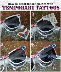 ROCK N ROLL SUNGLASSES WITH TEMPORARY TATTOOS - Mad in Crafts