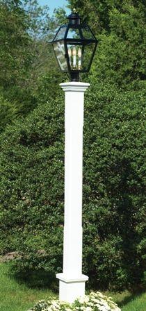 Lazy Hill Farm Cedar Lantern Post<br>Stained White