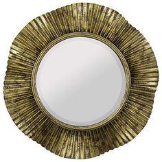 Robin Antique Gold And Black Round Beveled Mirror Round Mirrors Home Decor