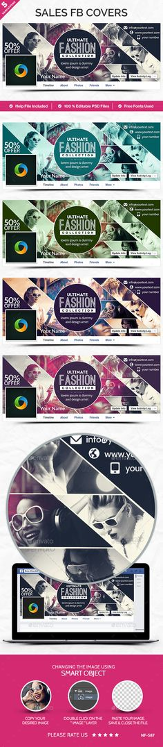 Fashion Sale Facebook Covers - 5 Designs PSD Template #design Download: http://graphicriver.net/item/fashion-sale-facebook-covers-5-designs/12594413?ref=ksioks
