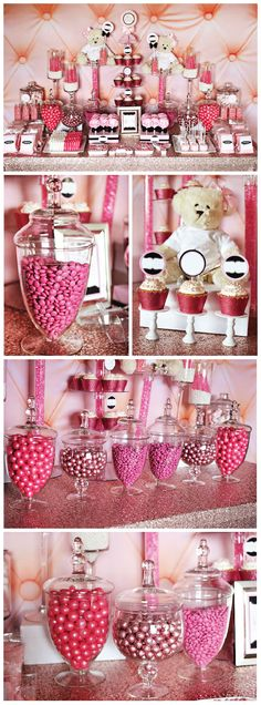 darling sweets table for Valentine's Day