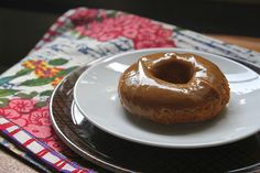 Banana doughnuts with Peanut butter glaze/browned butter! Holy deliciousness spare some calories folks!