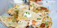 These spicy chicken quesadillas are a fast, fabulous and good-for-you meal. Absolutely delicious -- it doesn't get any easier.
