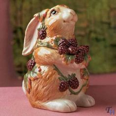 Blackberry Rabbit Lidded Box by Fitz and Floyd