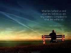 Ralph Waldo Emerson quote.