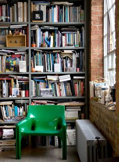 Messy, crowded, but home is where the books are at in a way you like to get at them.