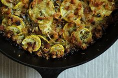 Summer Squash Gratin with Salsa Verde and Gruyere - Replace the breadcrumbs with toasted nuts