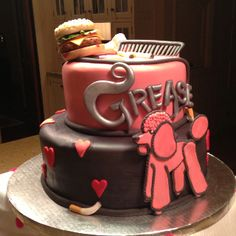 Amazing cake creation for cast party for Grease musical.