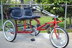 Tricycles - Side-by-Side Team Dual Trike - Rideable Bicycle Replicas Tricycle Bike, Adult Tricycle, Chopper, Pvc Projects, Vintage Bikes, Go Kart, Custom Bikes, Cool Bikes, Covered Patios