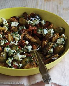 Brussel Sprouts with Blue Cheese & Pancetta | Sweet Paul