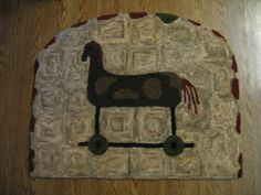 Antique Toy Horse by We Three Rug Hooking, via Flickr